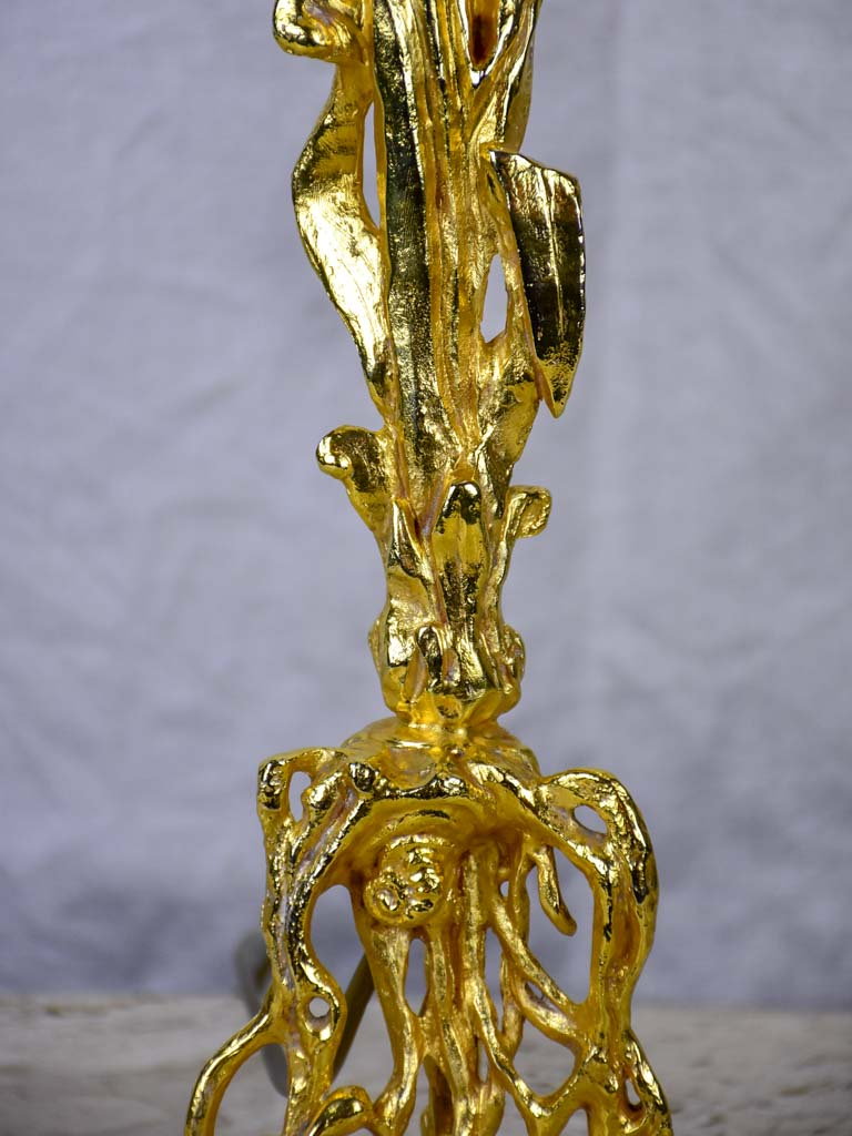 1990's gilded bronze lamp attributed to Pierre Casanove
