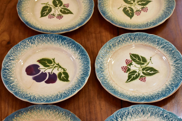Set of six 19th century French plates