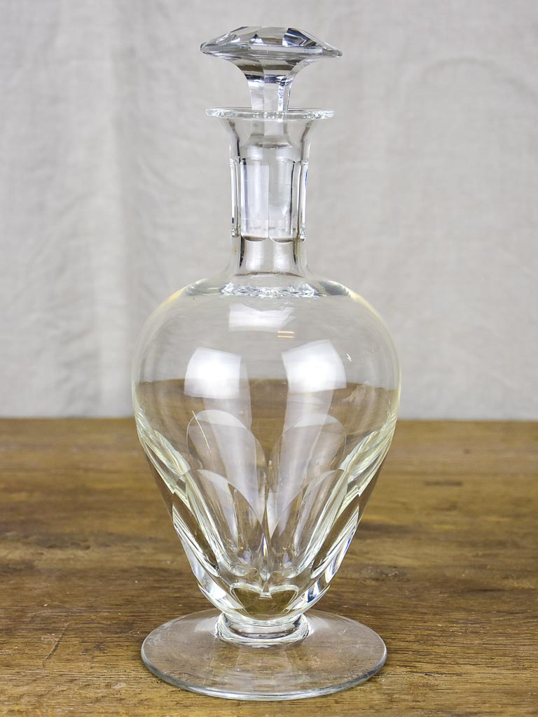 1950's French crystal liqueur decanter