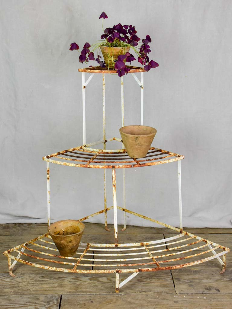 Mid century French plant stand - three tier