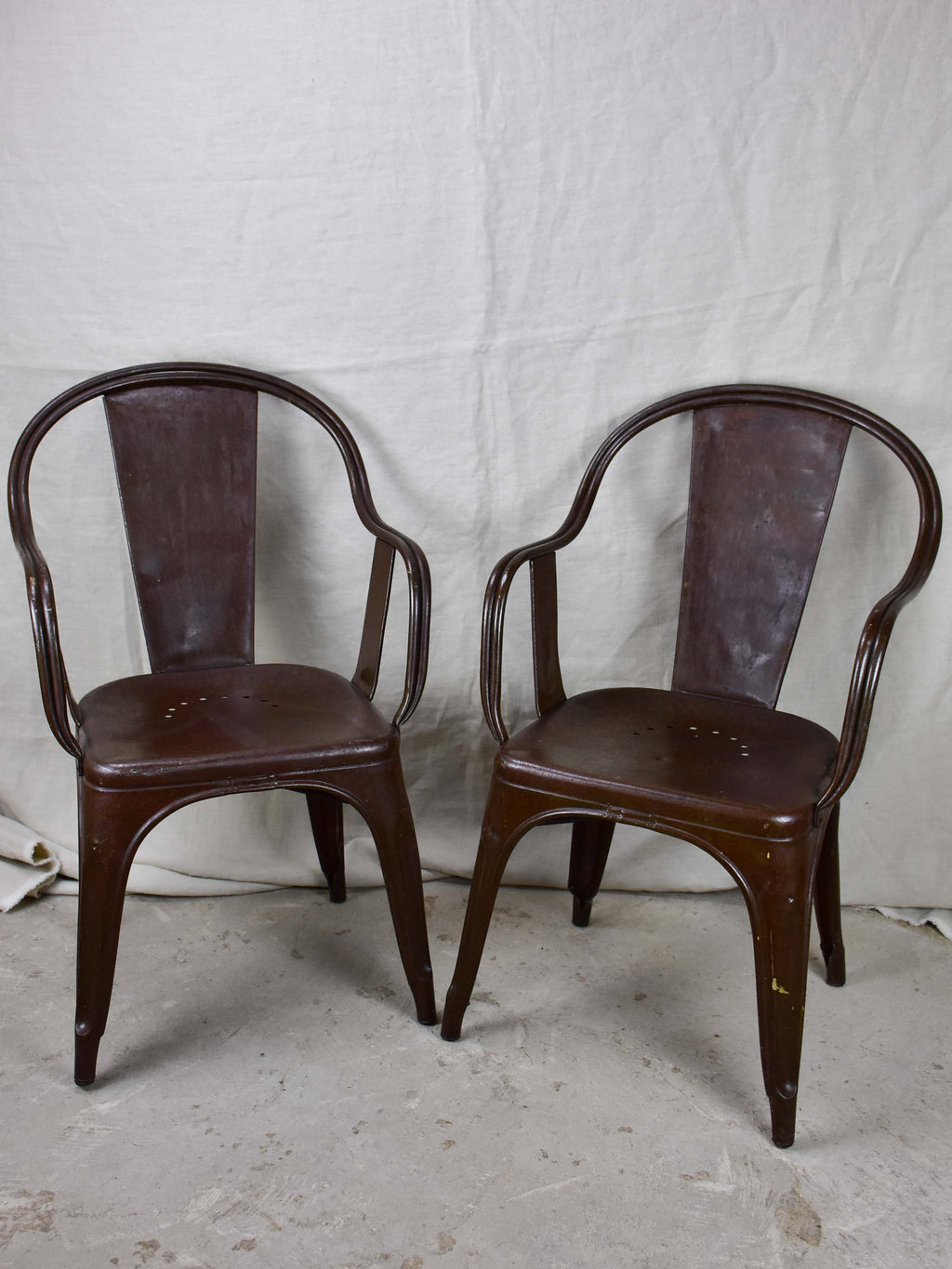 Pair of original Tolix armchairs - 1930's