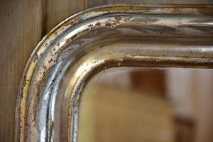 19th century Louis Philippe mirror with elegant silver frame
