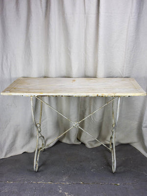 Antique French marble bistro table - rectangular