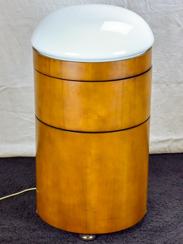 Mid-century Italian pivoting lamp / bar - round with light