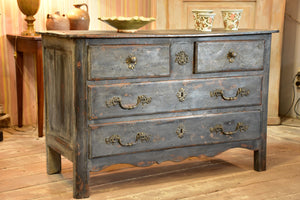 18th century Louis XIV/XV commode with blue patina