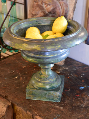 Antique French medici urn - zinc with green patina