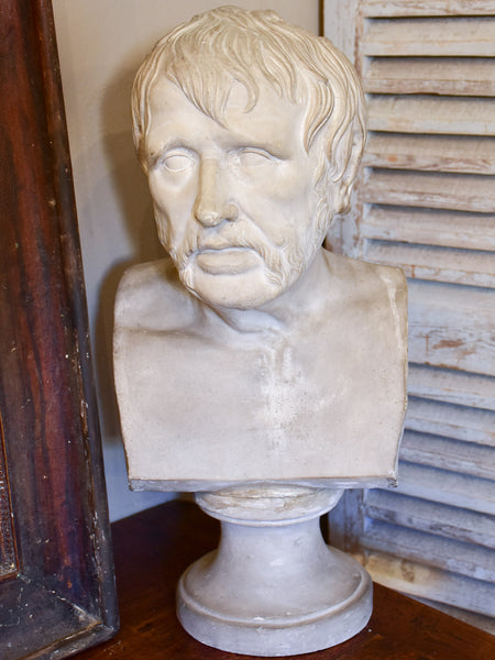 Antique French bust of Seneque