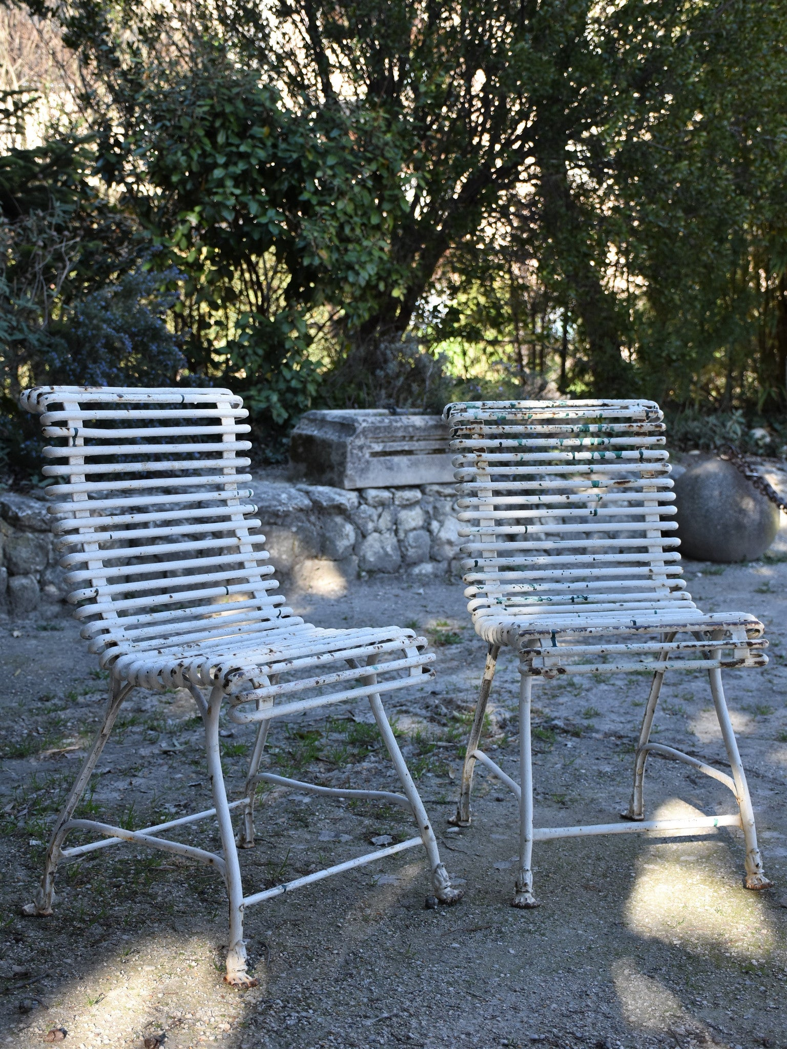 Pair of late 19th century Arras garden chairs