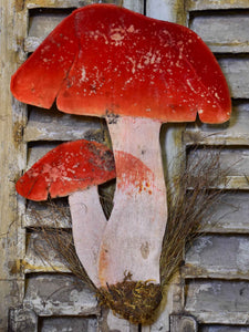 Vintage French mushrooms - wall decoration
