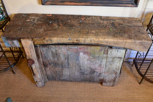Rustic artist's workbench from the 1900's