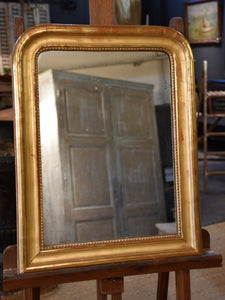 Gilded Louis Philippe mirror - 19th century