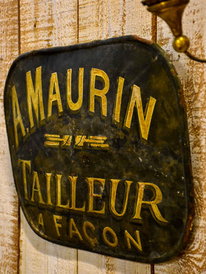 19th Century French sign from a Tailor's shop