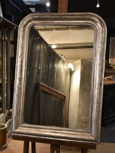 Silver framed Louis Philippe mirror - 19th century