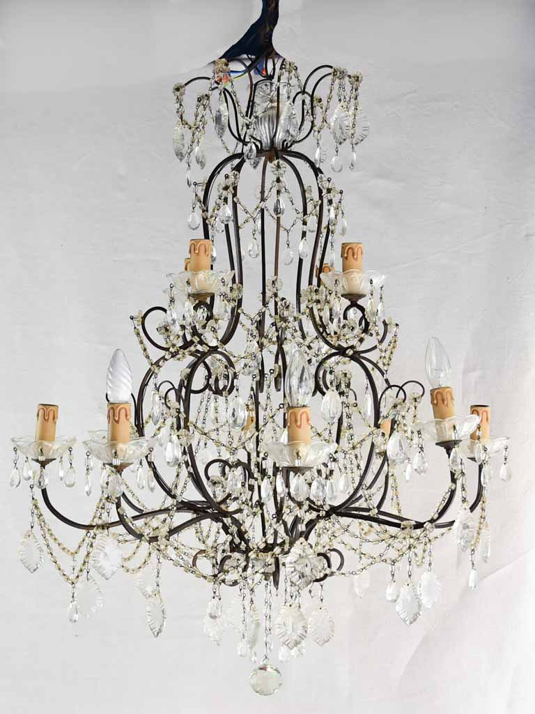 Large early twentiteth century Italian chandelier - 12 lights 38½""