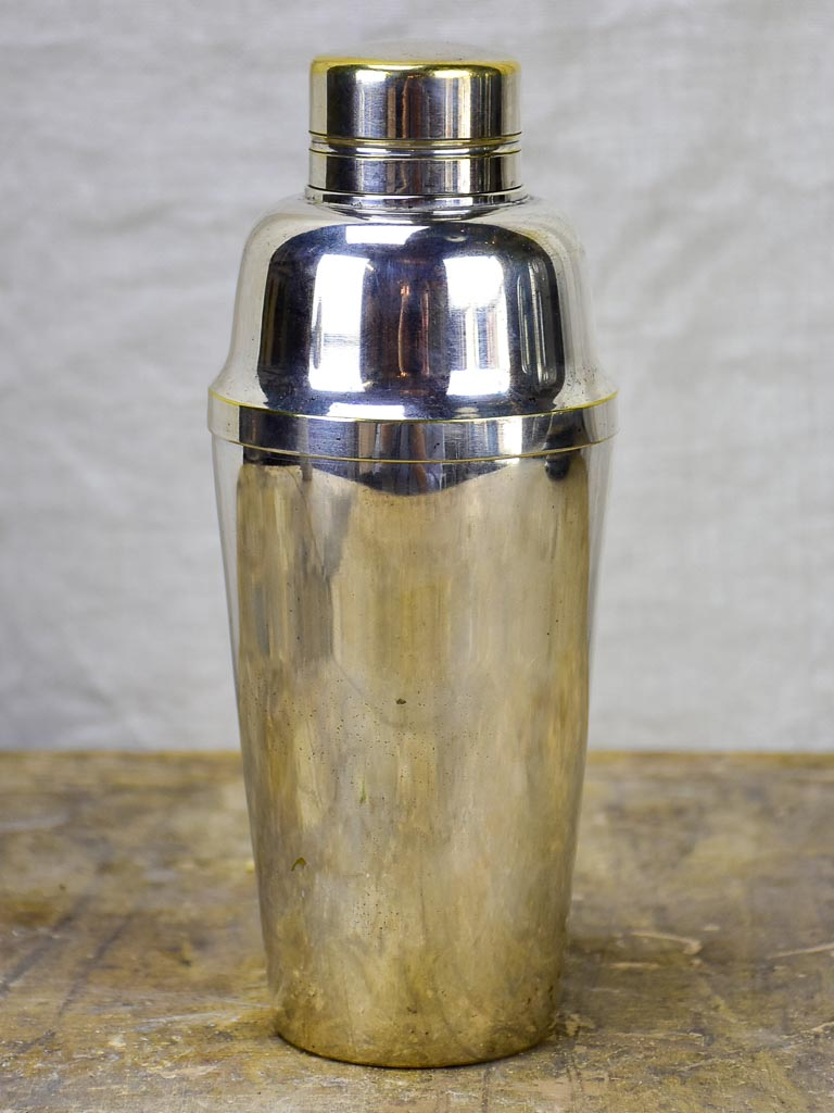 Art Deco French cocktail shaker - silver plate