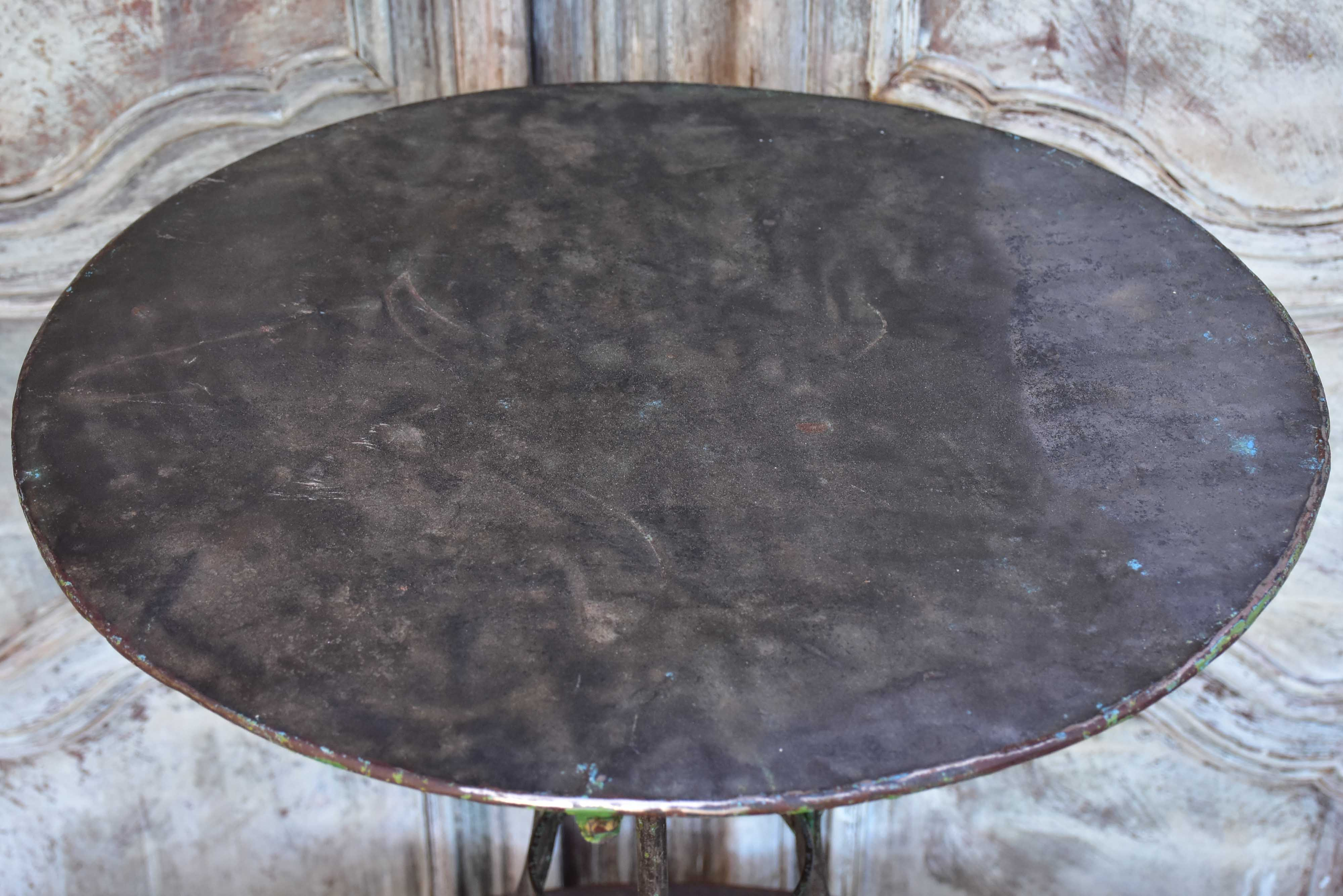 Antique French round garden table