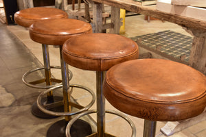 1960's French leather barstools