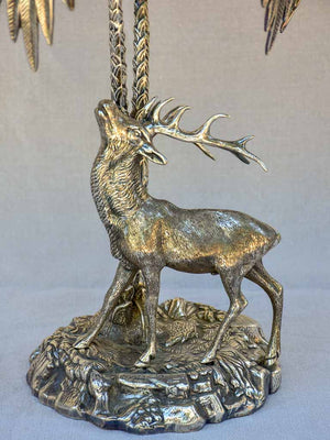 Spanish Valenti sculpture of an elk under trees 1970's - signed