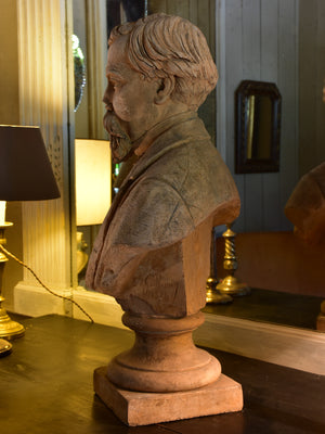 19th century French bust signed and dated by the sculptor Guillemin 1874