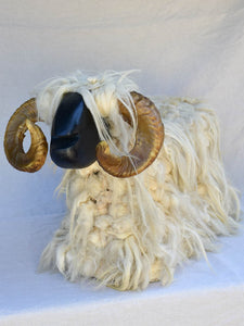 Mid century ram sheep stool / footrest