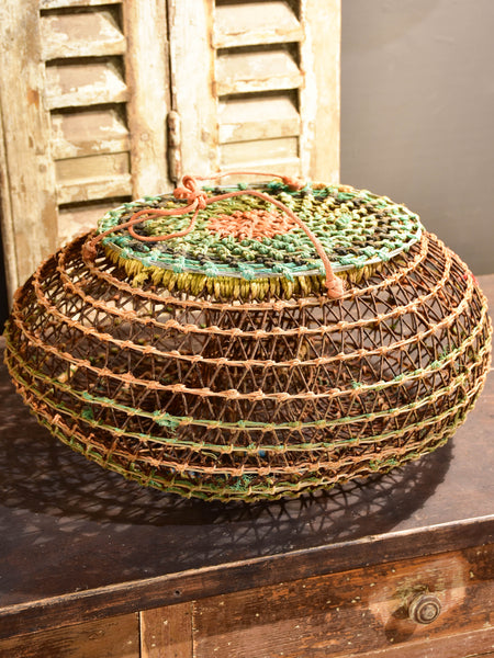 Vintage French fishing basket