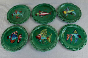1960's seafood service from Vallauris - hand painted and signed