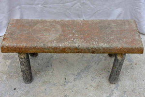 Early 20th Century faux bois garden bench