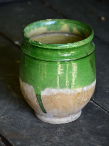 Small 19th century confit pot from south west France