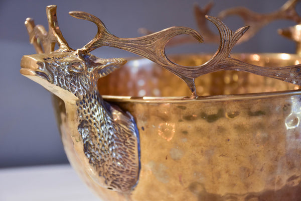 Large champagne ice bucket with moose head handles