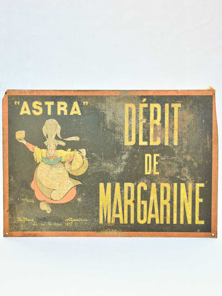 "Astra margarine advertising panel - 1930's 20½"" x 14¼"""