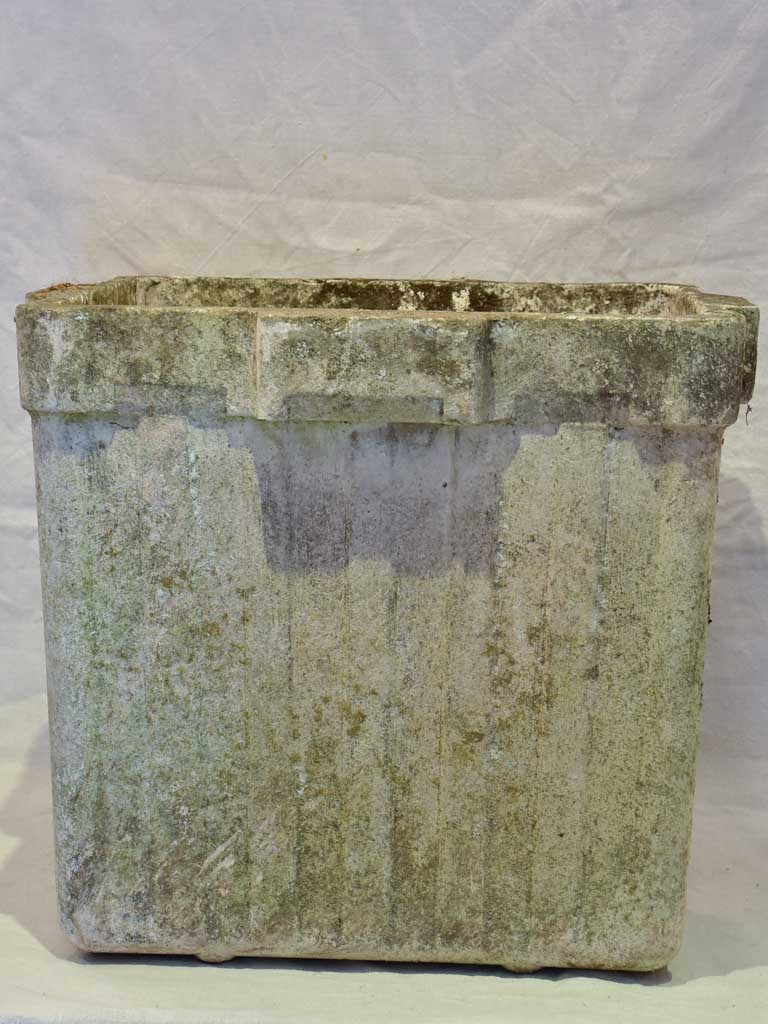 Collection of four very large Willy Guhl garden planters - square 23¾""