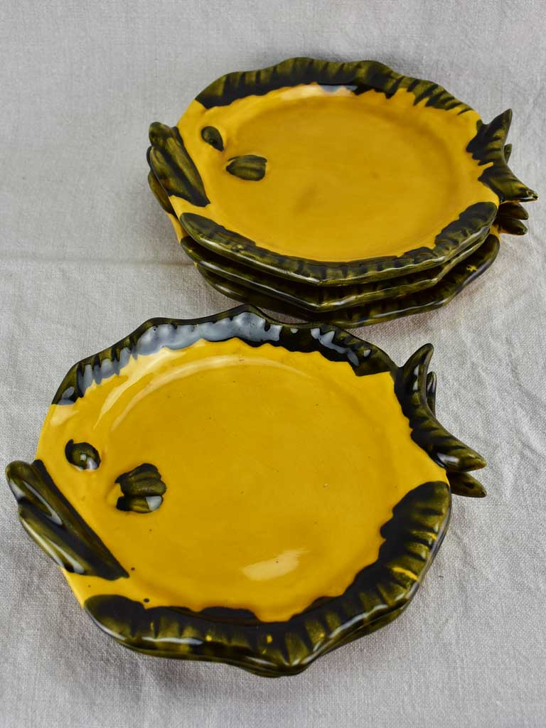 Six 1950's Fish plates from Vallauris