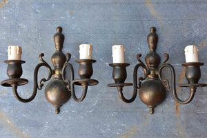 Pair of vintage Italian wall sconces
