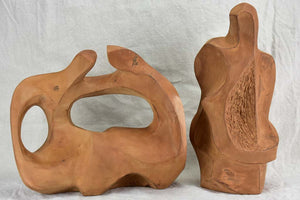 Two mid century French abstract sculptures