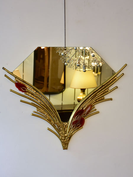 Vintage mirror attributed to Isabelle Faure - Art Deco style