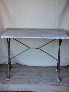 Rectangular Italian garden table with bardiglio marble top