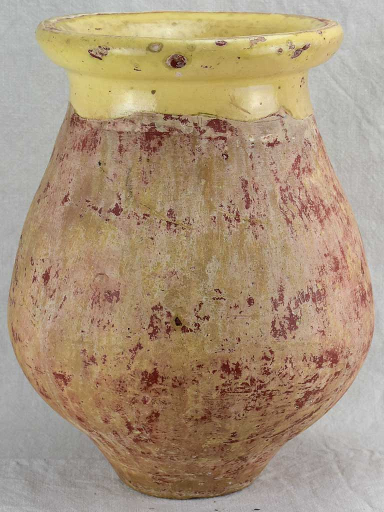 Small antique French Biot olive jar from the 19th Century 17¾""
