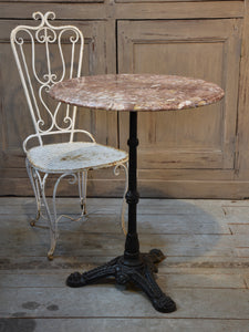 French marble top bistro table – 1940's