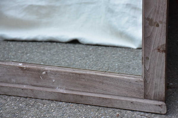 Vintage Italian mirror with raw wooden frame