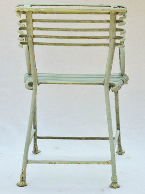 19th Century French Arras garden armchair with claw feet and scroll armrests