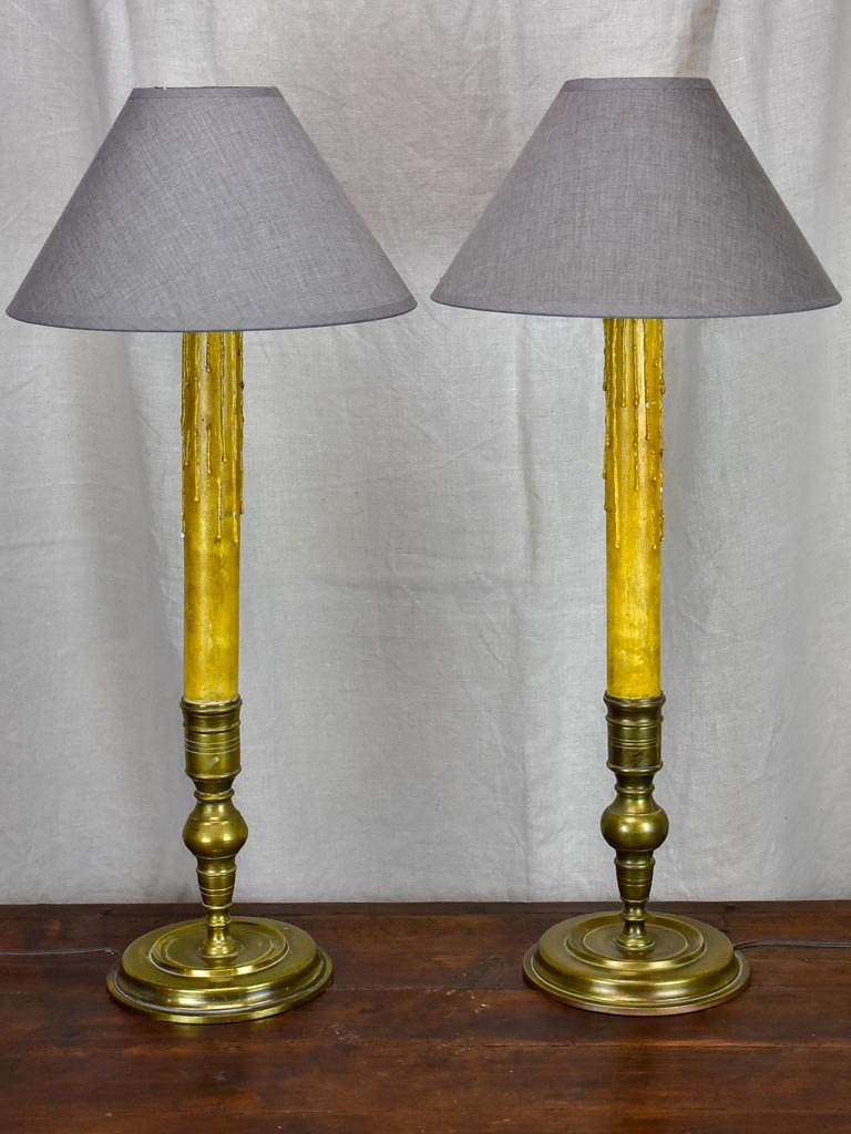 Pair of Napoleon III table lamps - candlesticks