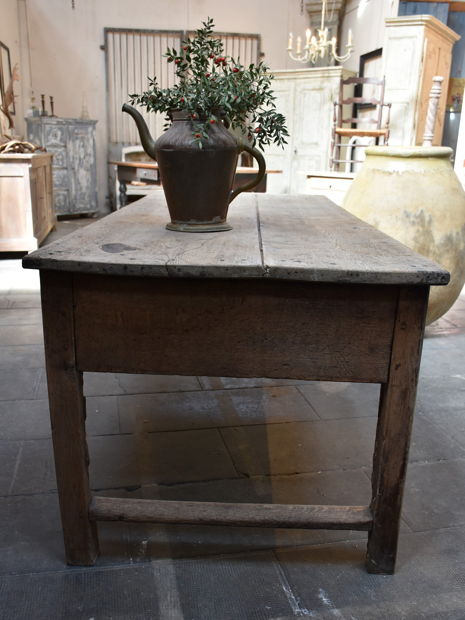 Antique French country farm table – 19th century