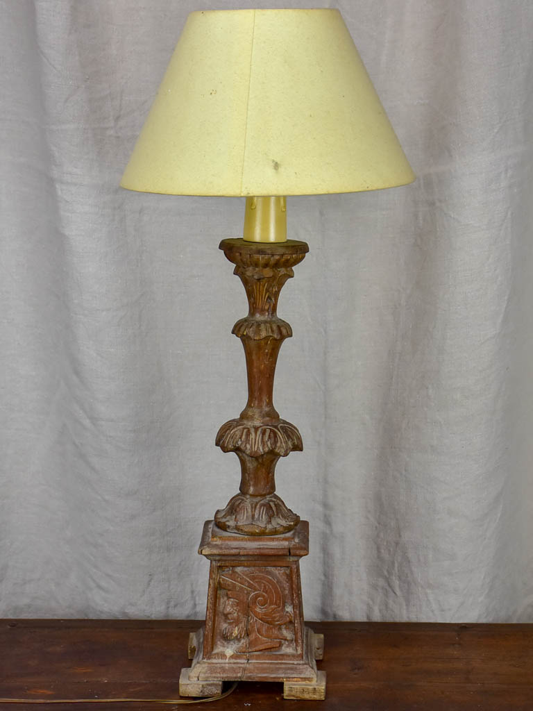 Antique French candlestick table lamp