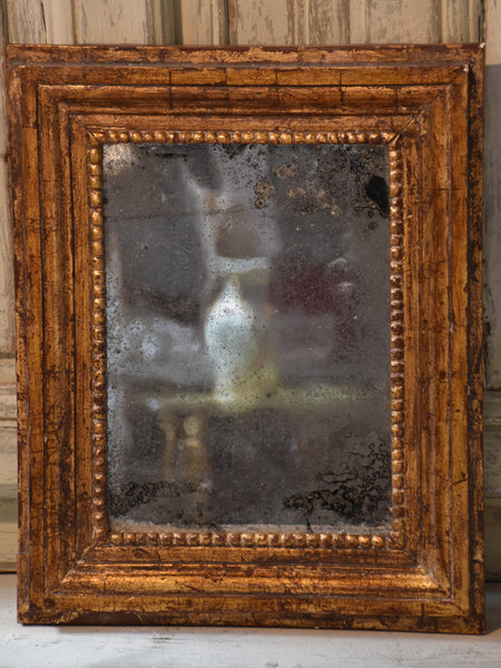 Small antique French mirror