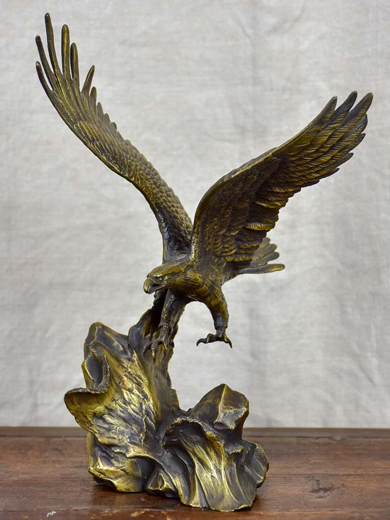 19th Century French bronze sculpture of an eagle