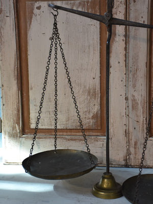 Pair of Antique French Épicerie scales
