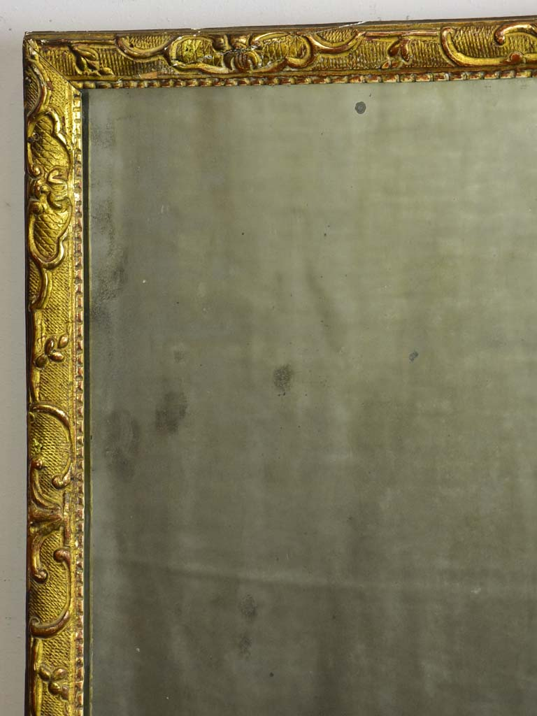 "Small 18th Century gilded mirror - Louis XIII / XIV 21¾"" x 17¾"""