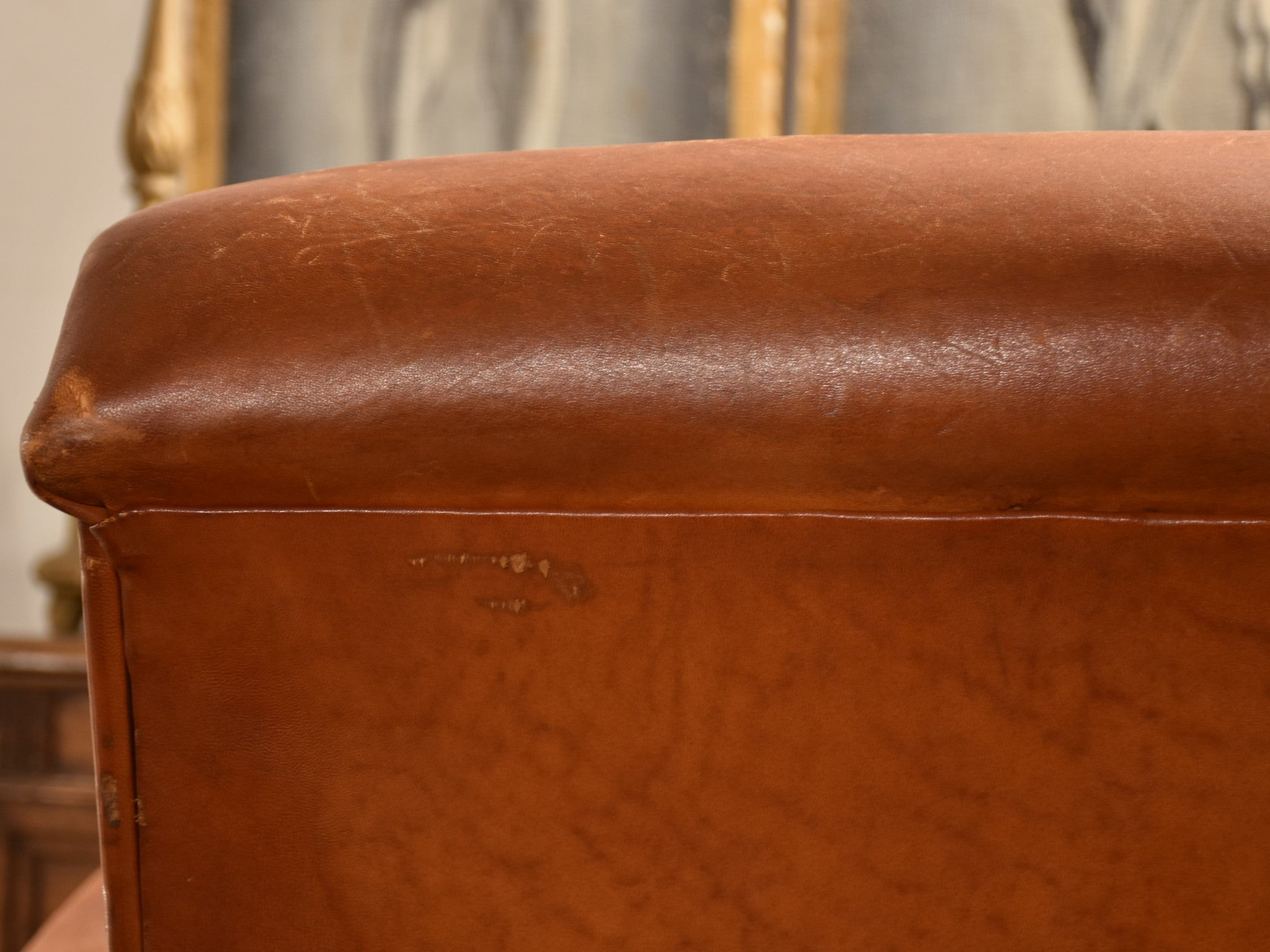 French leather club chair – 1960's