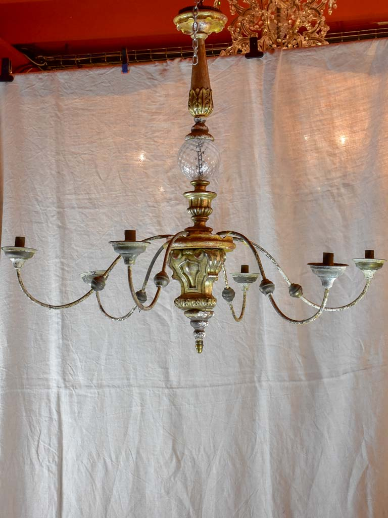 Antique French candle chandelier