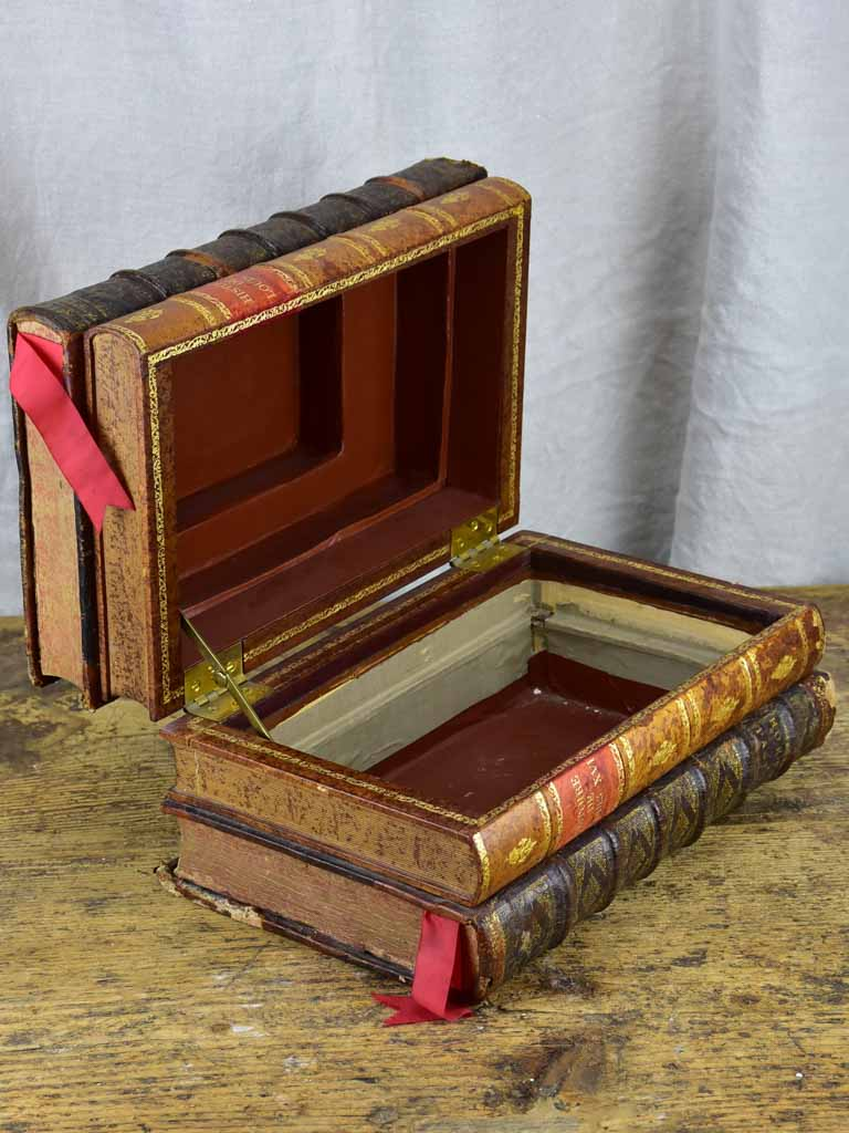 Antique French secret storage books